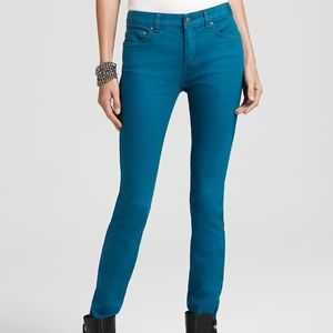 Free People teal skinny jeans size 27